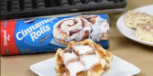 If You Have 3 Minutes and A Waffle Iron, You Can Make These Amazing Cinnamon Rolls