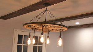 Upcycle A Wagon Wheel Into The Coolest Chandelier