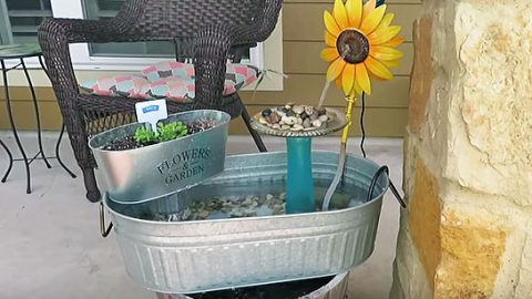 Don't Buy A Fountain For Your Yard: You'll Love Making This One Instead | DIY Joy Projects and Crafts Ideas