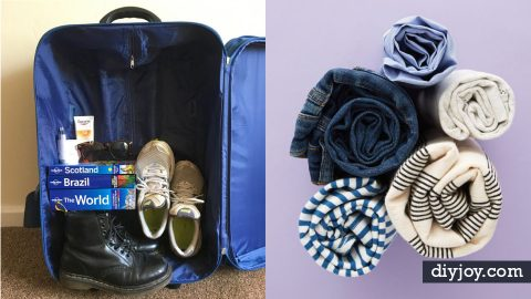 34 Packing Hacks For Make for The Best Trip Ever | DIY Joy Projects and Crafts Ideas