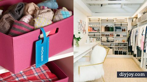 35 Best DIY Closet Organizing Ideas | DIY Joy Projects and Crafts Ideas
