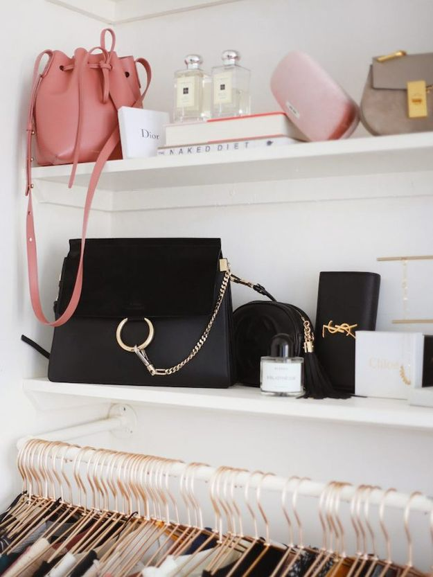 Closet Organization Ideas - Accessories On Display - DIY Closet Organizing Tutorials - Hacks, Tips and Tricks for Closets With Storage, Shoe Racks, Small Space Idea - Projects for Bedroom, Kids, Master, Walk in