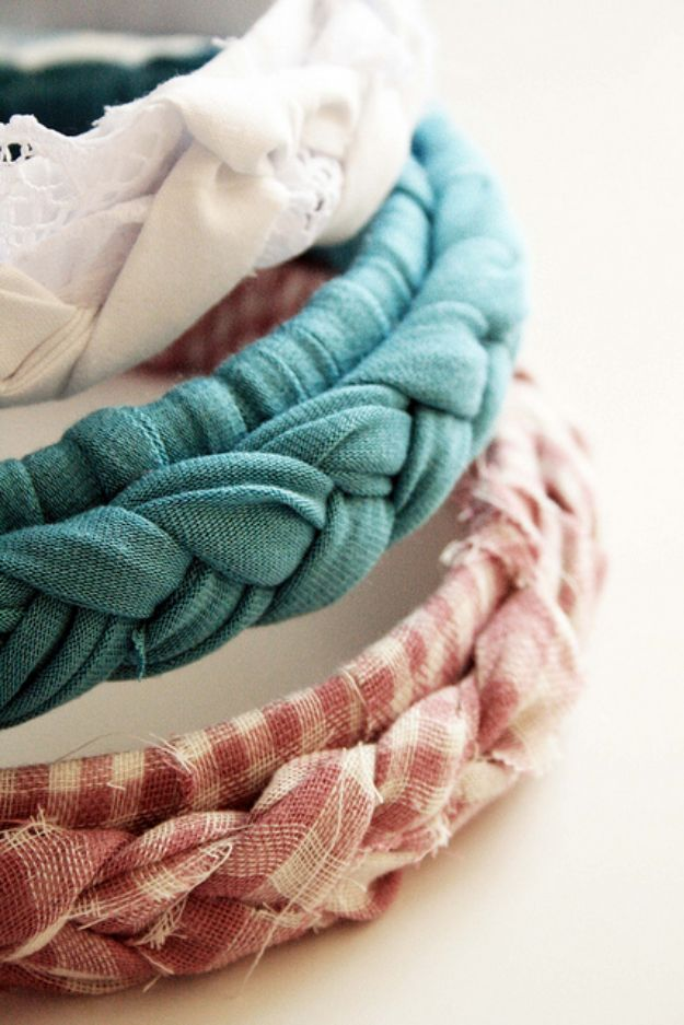 No Sew DIY Fashion Ideas - Braided Headbands - Easy No Sew Projects to Make for Clothes, Shirts, Jeans, Pants, Skirts, Kids Clothing No Sewing Project Ideas