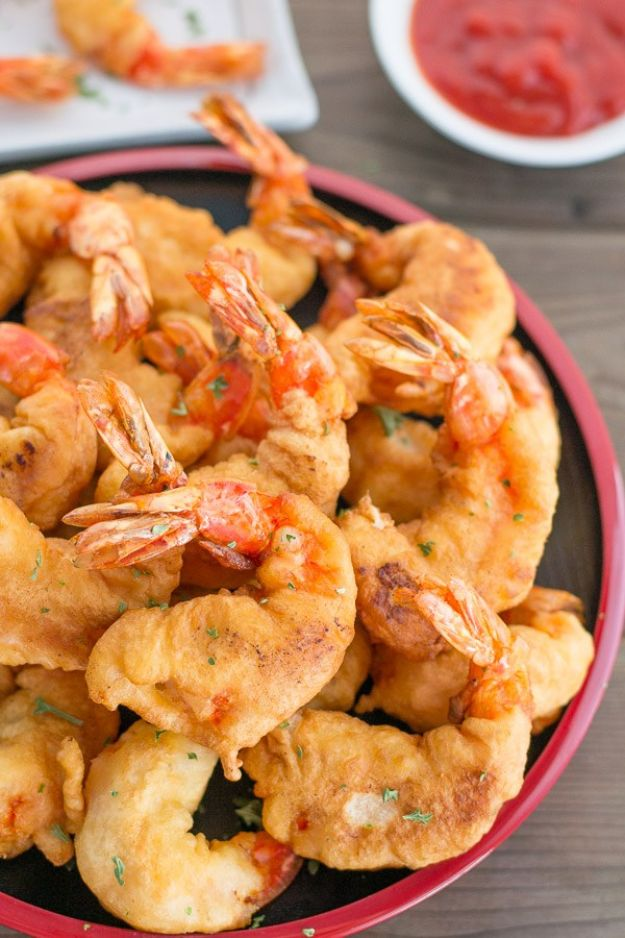 Shrimp Recipes - Camaron Rebosado - Healthy, Easy Recipe Ideas for Dinner Using Shrimp - Grilled, Creamy Baked Pasta, Fried, Spicy Asian Style, Mexican, Sauteed Garlic