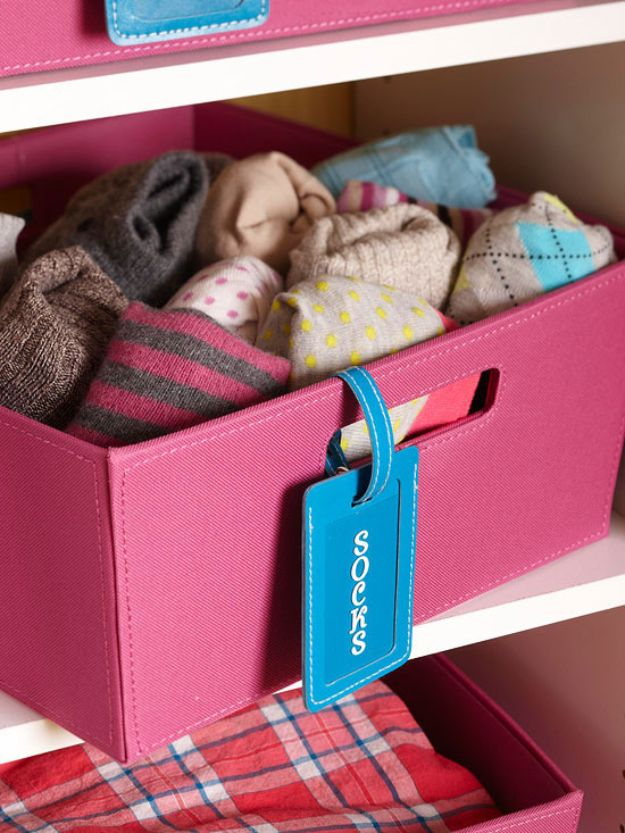 Closet Organization Ideas - Closet Helper Luggage Tags - DIY Closet Organizing Tutorials - Hacks, Tips and Tricks for Closets With Storage, Shoe Racks, Small Space Idea - Projects for Bedroom, Kids, Master, Walk in