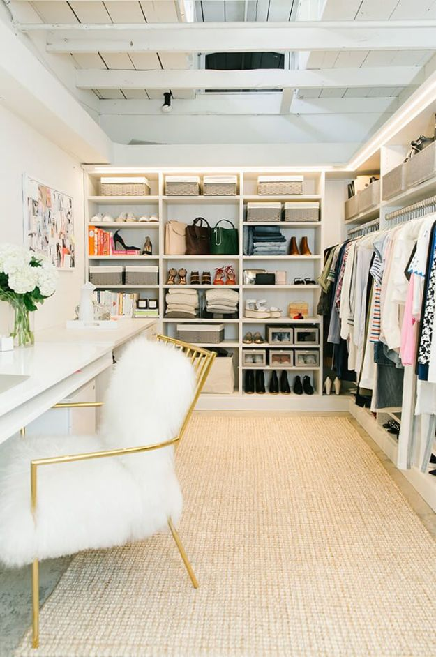 Closet Organization Ideas - Closet Organization Made Easy - DIY Closet Organizing Tutorials - Hacks, Tips and Tricks for Closets With Storage, Shoe Racks, Small Space Idea - Projects for Bedroom, Kids, Master, Walk in