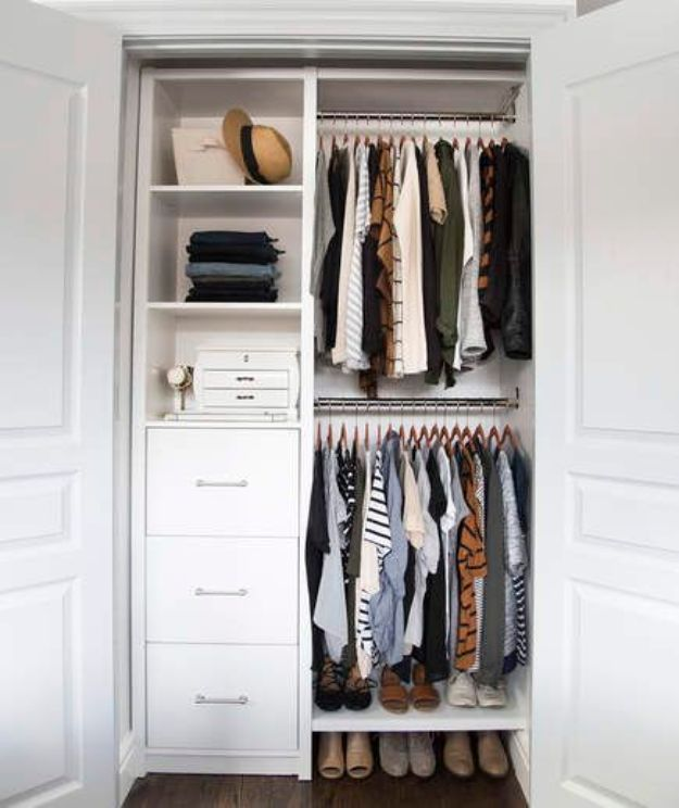 Closet Organization Ideas - Clutter Free Closet - DIY Closet Organizing Tutorials - Hacks, Tips and Tricks for Closets With Storage, Shoe Racks, Small Space Idea - Projects for Bedroom, Kids, Master, Walk in