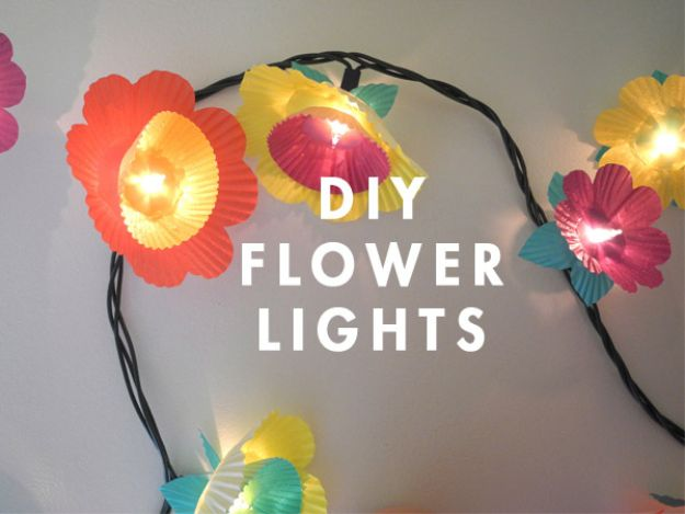 Crafts To Make and Sell - Cupcake Flower Lights - 75 MORE Easy DIY Ideas for Cheap Things To Sell on Etsy, Online and for Craft Fairs. Make Money with crafts to sell ideas #crafts