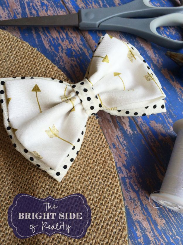 Crafts To Make and Sell - Cutest Fabric Hair Bow - 75 MORE Easy DIY Ideas for Cheap Things To Sell on Etsy, Online and for Craft Fairs. Make Money with crafts to sell ideas #crafts