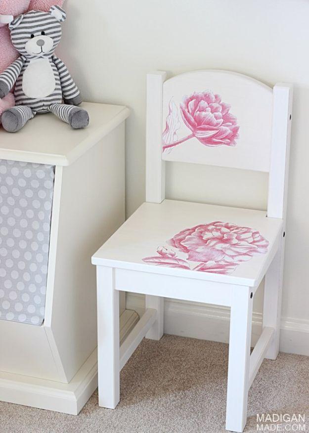DIY Child's Chair With Photo Transfer Medium