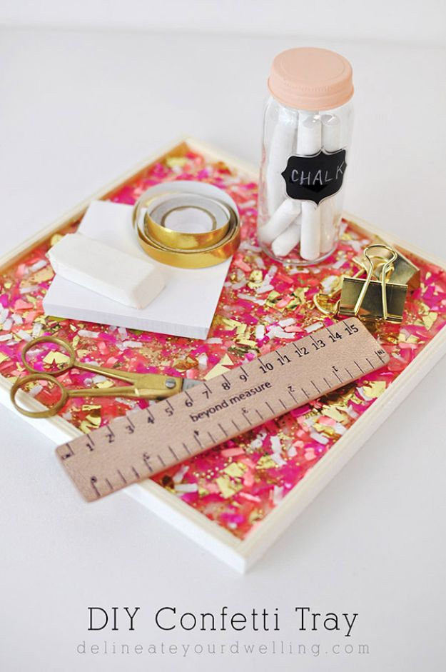 Crafts To Make and Sell - DIY Confetti Tray - Cheap Things to Sell for Profit - Best Selling Etsy Shop Ideas You Can Make With Cheap Supplies