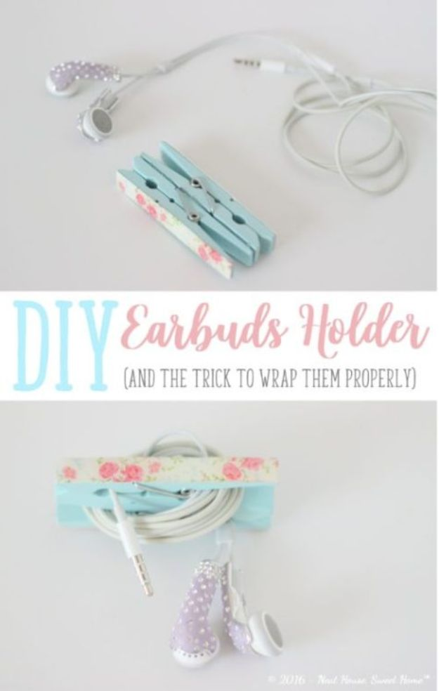 Crafts To Make and Sell - DIY Earbuds Holder - 75 MORE Easy DIY Ideas for Cheap Things To Sell on Etsy, Online and for Craft Fairs. Make Money with crafts to sell ideas #crafts