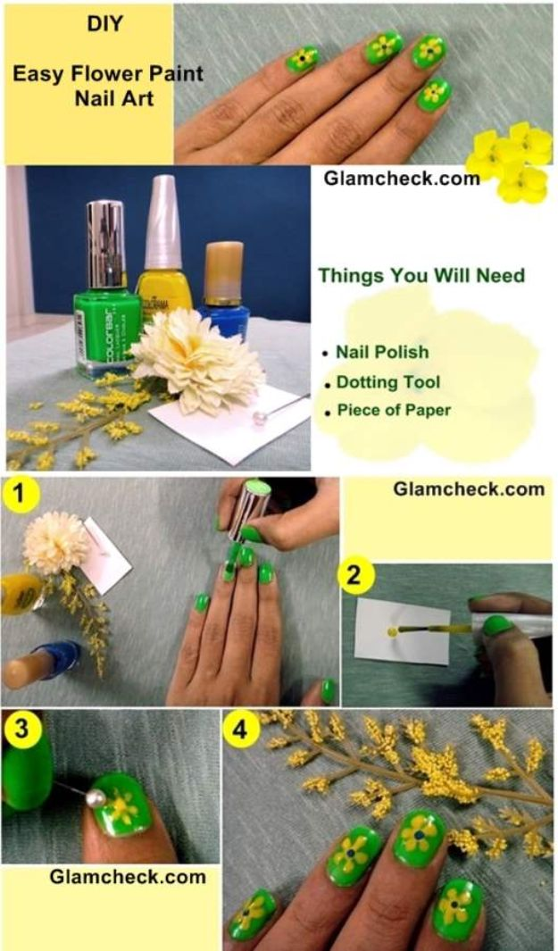 How To Paint Flowers - DIY Easy Flower Paint Nail Art - Step by Step Tutorials for Painting Roses, Daisies, Whimsical and Abstract Floral Techniques - Easy Acrylic Flower Tutorial for Beginners - Paint on Wood, Canvas, On Wasll, Rocks, Fabric and Paper - Step by Step Instructions and How To #painting #diy