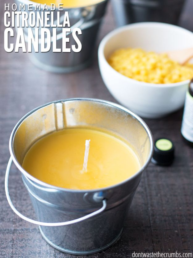 Crafts To Make and Sell - DIY Homemade Citronella Candles - 75 MORE Easy DIY Ideas for Cheap Things To Sell on Etsy, Online and for Craft Fairs. Make Money with These Homemade Crafts for Teens, Kids, Christmas, Summer, Mother's Day Gifts. http://diyjoy.com/crafts-to-make-and-sell-ideas