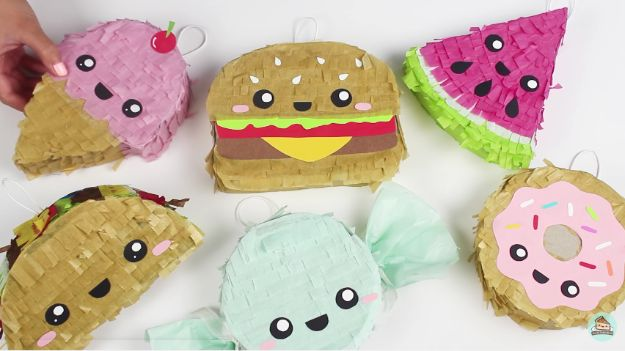 Crafts To Make and Sell - DIY Mini Piñatas - 75 MORE Easy DIY Ideas for Cheap Things To Sell on Etsy, Online and for Craft Fairs. Make Money with crafts to sell ideas #crafts