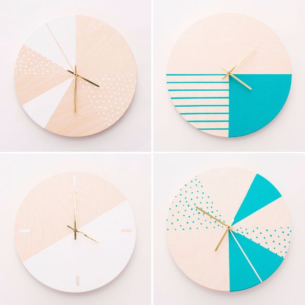 Crafts To Make and Sell - DIY Modern Wall Clock - 75 MORE Easy DIY Ideas for Cheap Things To Sell on Etsy, Online and for Craft Fairs. Make Money with crafts to sell ideas #crafts