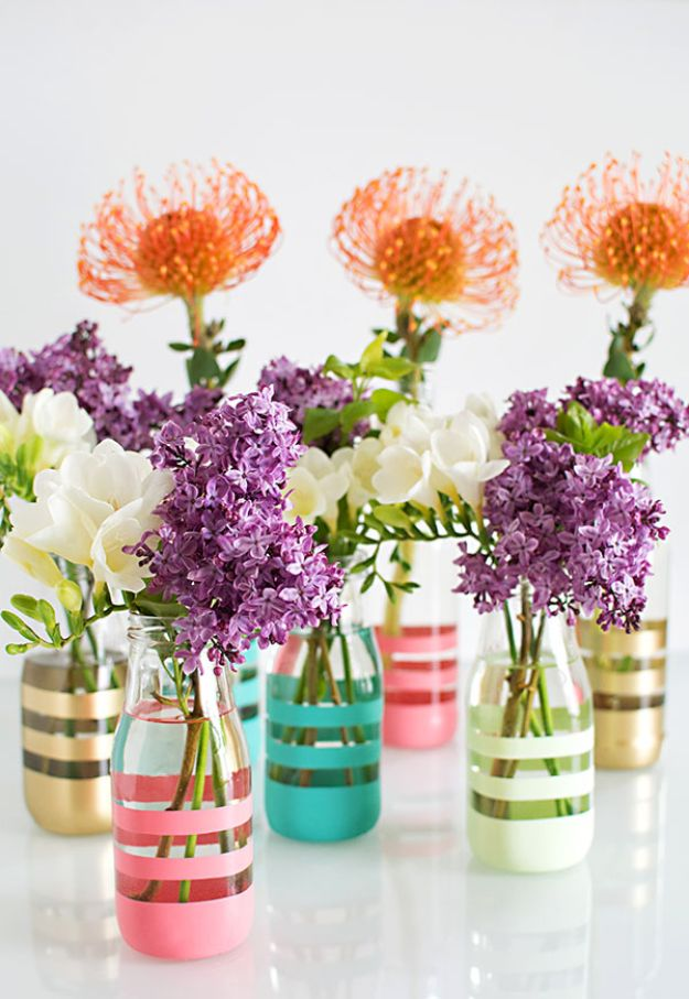 Crafts To Make and Sell - DIY Painted Bottles - 75 MORE Easy DIY Ideas for Cheap Things To Sell on Etsy, Online and for Craft Fairs. Make Money with These Homemade Crafts for Teens, Kids, Christmas, Summer, Mother's Day Gifts. http://diyjoy.com/crafts-to-make-and-sell-ideas