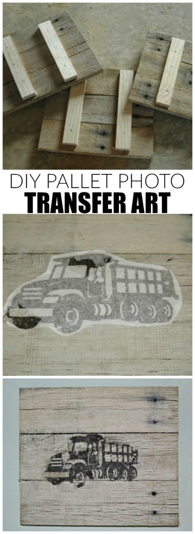 Cool Pallet Projects DIY - How to Transfer a Print to Wood - Cheap DIY Home Decor Ideas for Farmhouse Style Art