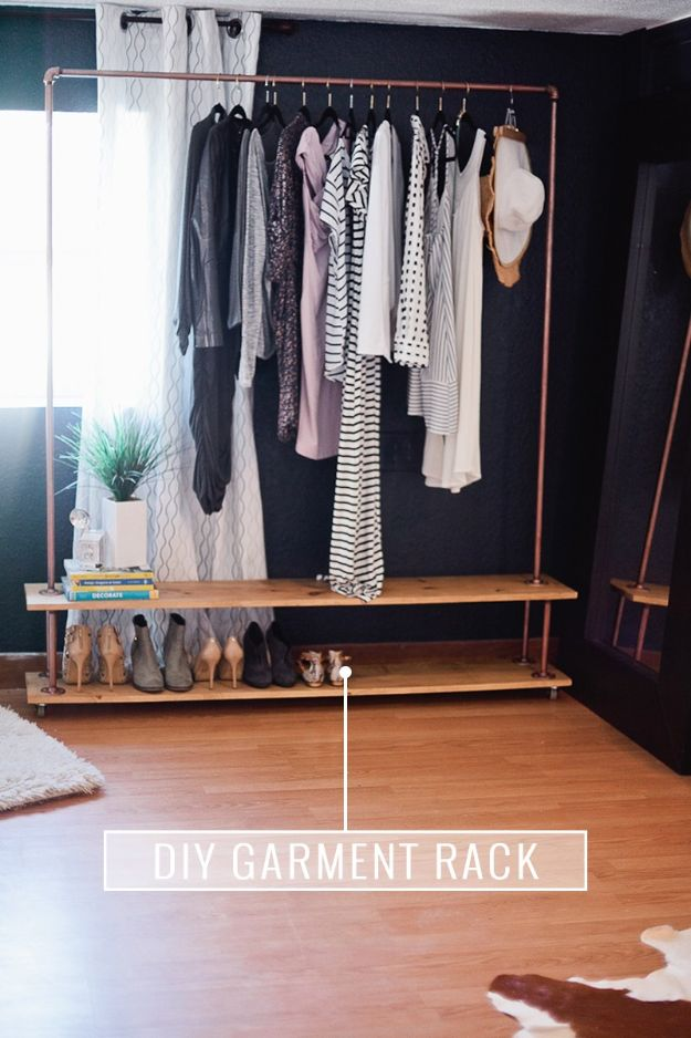 Closet Organization Ideas - DIY Rolling Garment Rack - DIY Closet Organizing Tutorials - Hacks, Tips and Tricks for Closets With Storage, Shoe Racks, Small Space Idea - Projects for Bedroom, Kids, Master, Walk in