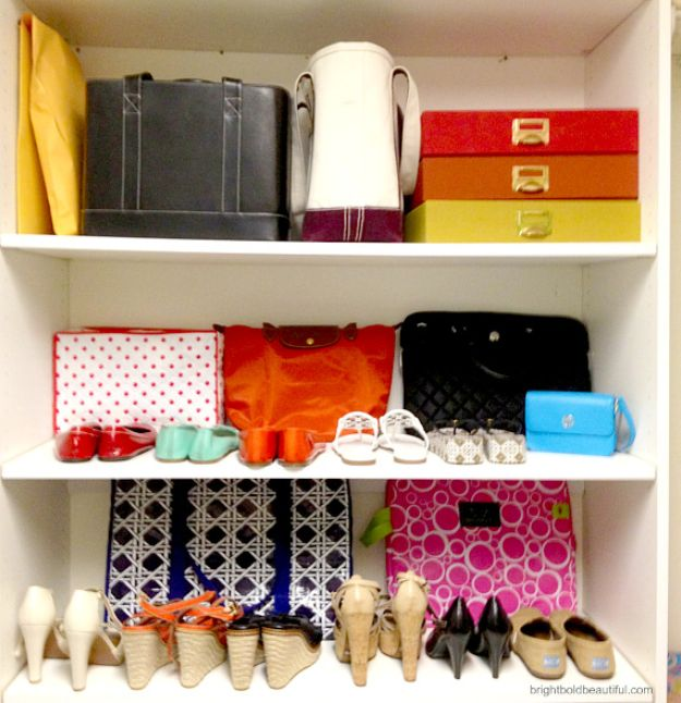 Closet Organization Ideas - DIY Shelves - DIY Closet Organizing Tutorials - Hacks, Tips and Tricks for Closets With Storage, Shoe Racks, Small Space Idea - Projects for Bedroom, Kids, Master, Walk in