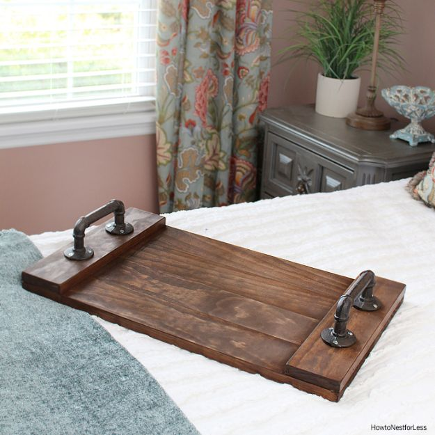 Crafts To Make and Sell - DIY Stained Wood Tray - 75 MORE Easy DIY Ideas for Cheap Things To Sell on Etsy, Online and for Craft Fairs. Make Money with crafts to sell ideas #crafts