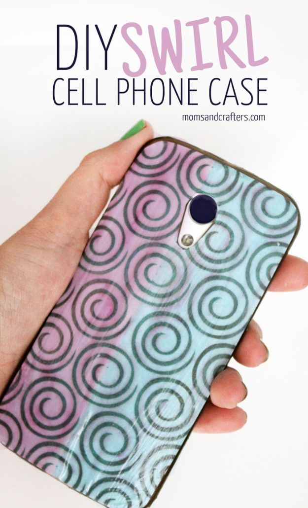 Crafts To Make and Sell - DIY Swirl Cellphone Case - 75 MORE Easy DIY Ideas for Cheap Things To Sell on Etsy, Online and for Craft Fairs. Make Money with crafts to sell ideas #crafts