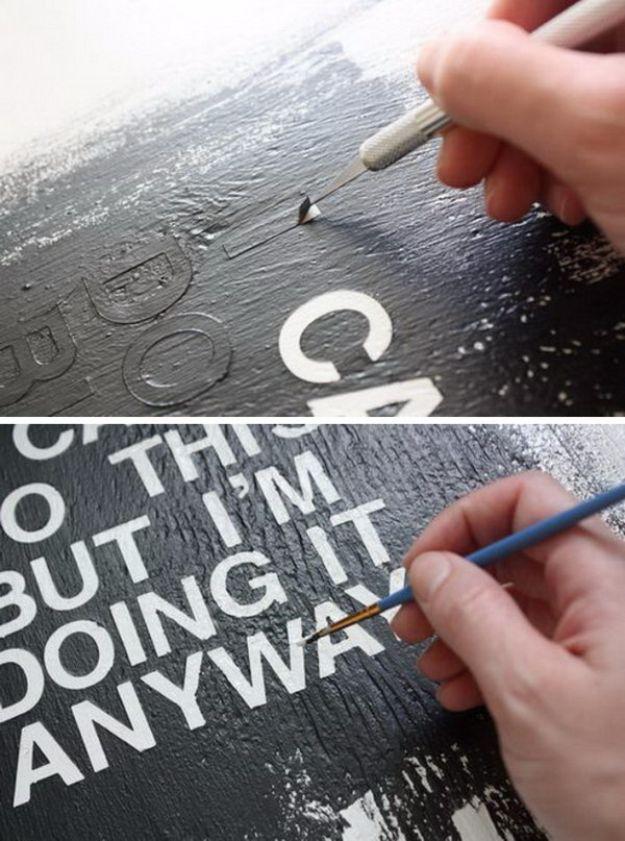DIY Text Art
