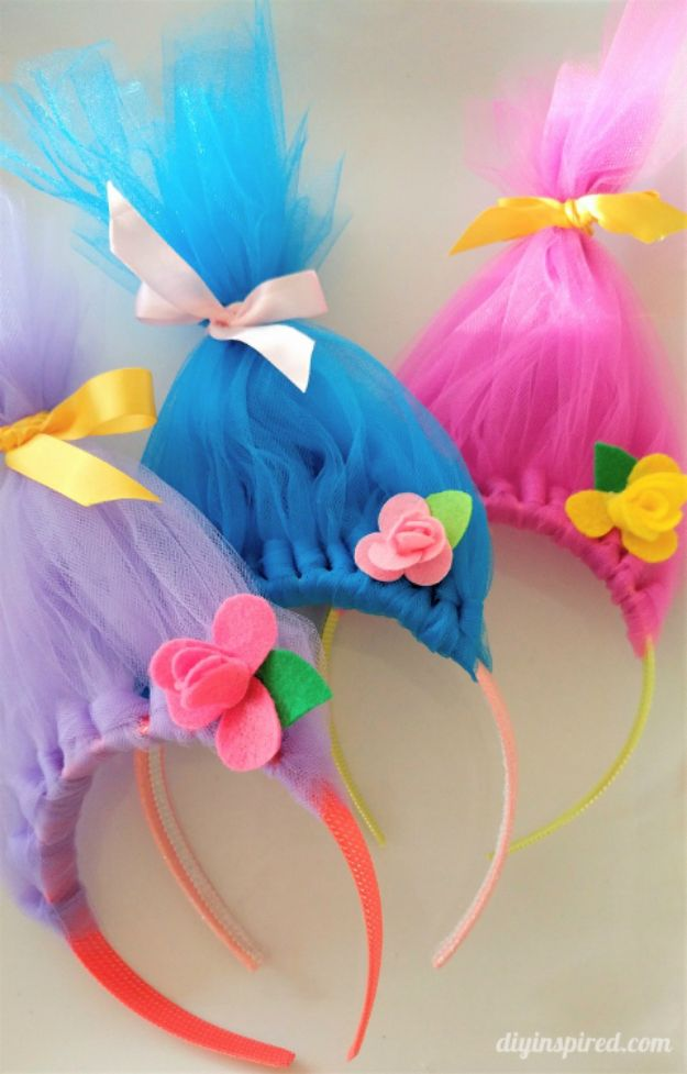 Crafts To Make and Sell - DIY Troll Hair Headbands - 75 MORE Easy DIY Ideas for Cheap Things To Sell on Etsy, Online and for Craft Fairs. Make Money with crafts to sell ideas #crafts