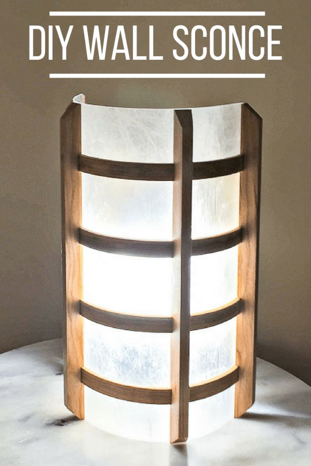 Japanese DIY Ideas and Crafts Inspired by Japan - DIY Wall Sconce - Boxes, Home Decorations, Room Decor, Fashion, Jewelry Tutorials, Wall Art and Gifts