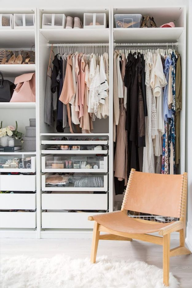 Closet Organization Ideas - Designed To Perfection - DIY Closet Organizing Tutorials - Hacks, Tips and Tricks for Closets With Storage, Shoe Racks, Small Space Idea - Projects for Bedroom, Kids, Master, Walk in