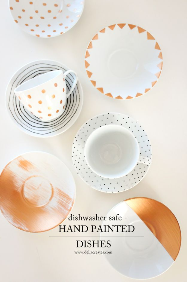Best Crafts To Make and Sell - Dishwasher Safe Painted Dishes - DIY Wedding Gifts Idea to Sell on Etsy - Handpainted Dishware for Anniversary Present, Mom and Dad, bridal shower gift idea -