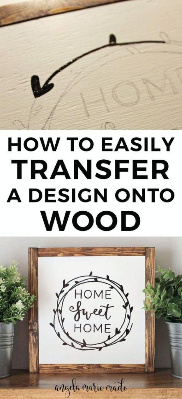 Easily Transfer A Design Onto Wood