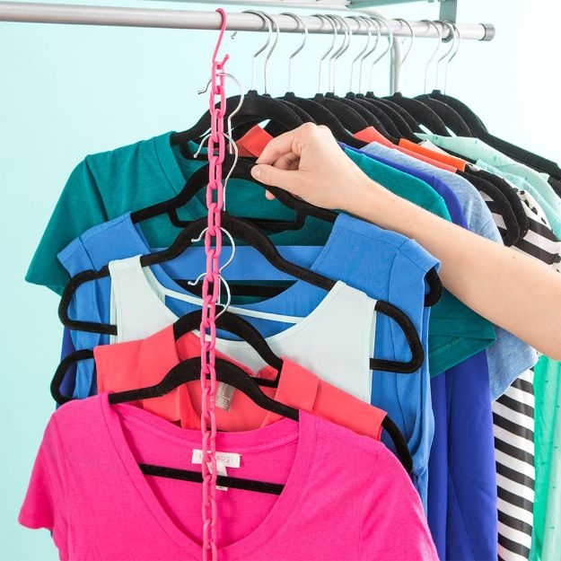 Closet Organization Ideas - Easy-to-Make Hanger Hack - DIY Closet Organizing Tutorials - Hacks, Tips and Tricks for Closets With Storage, Shoe Racks, Small Space Idea - Projects for Bedroom, Kids, Master, Walk in