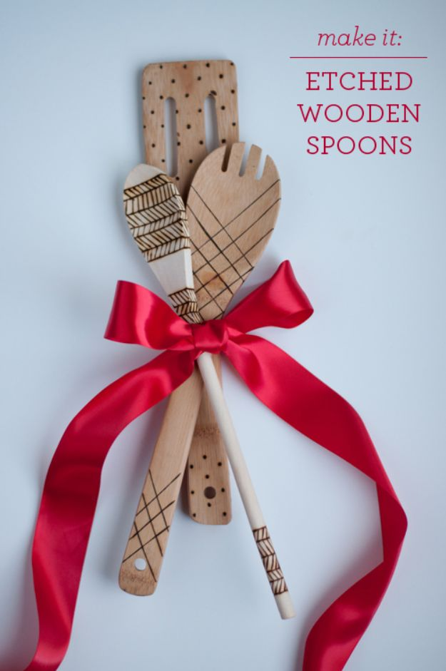 Crafts To Make and Sell - Etched Wooden Spoons - 75 MORE Easy DIY Ideas for Cheap Things To Sell on Etsy, Online and for Craft Fairs. Make Money with crafts to sell ideas #crafts
