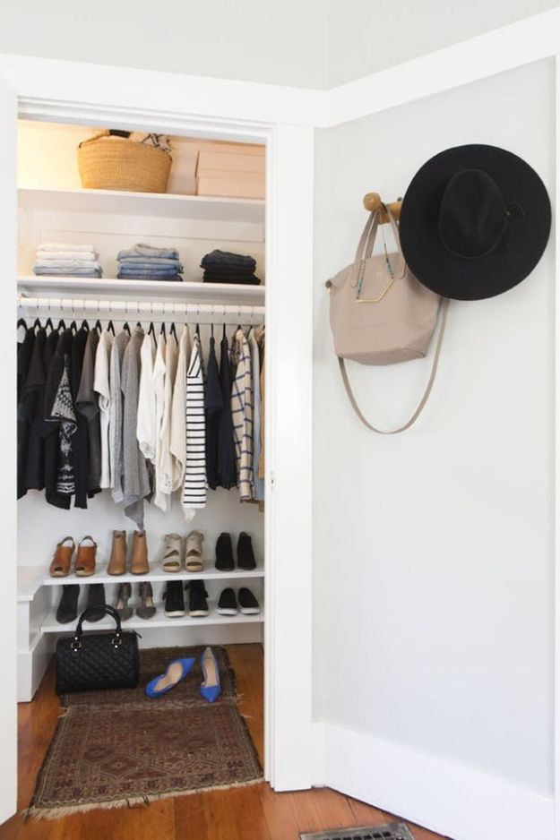 Closet Organization Ideas - Extend Your Closet - DIY Closet Organizing Tutorials - Hacks, Tips and Tricks for Closets With Storage, Shoe Racks, Small Space Idea - Projects for Bedroom, Kids, Master, Walk in