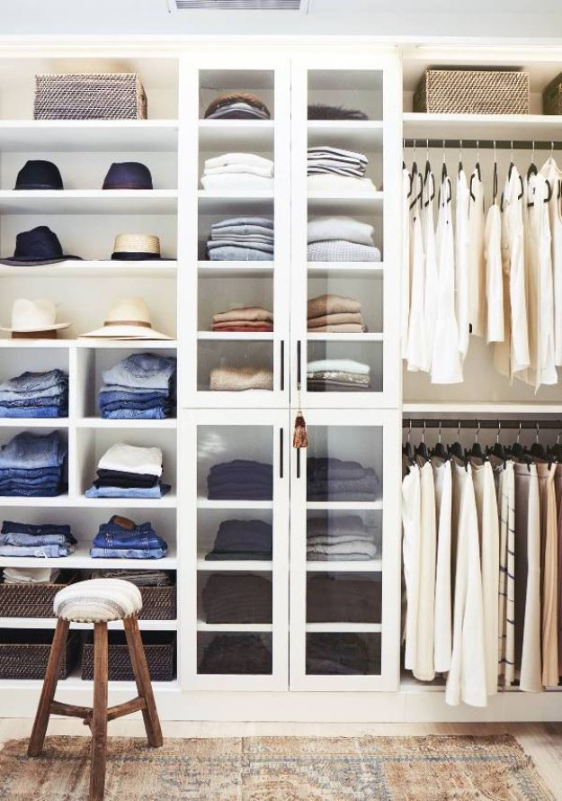 Closet Organization Ideas - Go Vertical - DIY Closet Organizing Tutorials - Hacks, Tips and Tricks for Closets With Storage, Shoe Racks, Small Space Idea - Projects for Bedroom, Kids, Master, Walk in