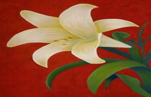 How To Paint Flowers - How To Paint A Lily Step By Step - Step by Step Tutorials for Painting Roses, Daisies, Whimsical and Abstract Floral Techniques - Easy Acrylic Flower Tutorial for Beginners - Paint on Wood, Canvas, On Wasll, Rocks, Fabric and Paper - Step by Step Instructions and How To #painting #diy