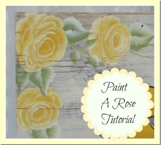 How To Paint Flowers - How To Paint A Rose On A Wood - Step by Step Tutorials for Painting Roses, Daisies, Whimsical and Abstract Floral Techniques - Easy Acrylic Flower Tutorial for Beginners - Paint on Wood, Canvas, On Wasll, Rocks, Fabric and Paper - Step by Step Instructions and How To #painting #diy