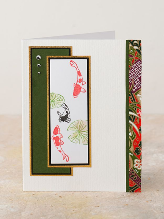 Japanese DIY Ideas and Crafts Inspired by Japan - Japanese Inspired Greeting Card - Boxes, Home Decorations, Room Decor, Fashion, Jewelry Tutorials, Wall Art and Gifts