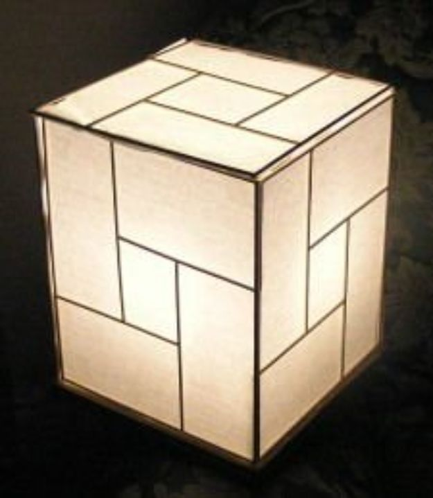 Japanese DIY Ideas and Crafts Inspired by Japan - Japanese Lamp From Recycled Materials - Boxes, Home Decorations, Room Decor, Fashion, Jewelry Tutorials, Wall Art and Gifts