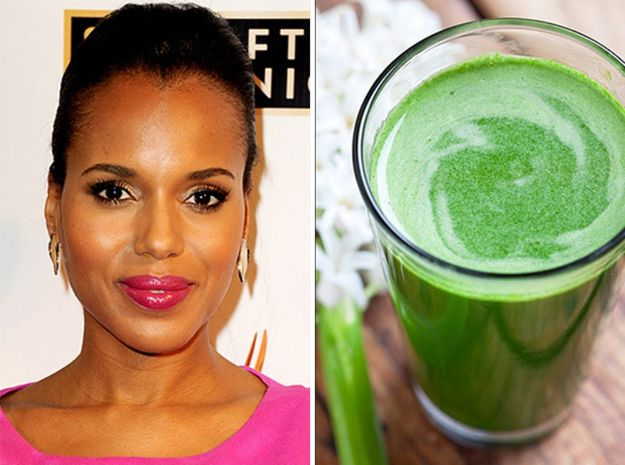 Celebrity Inspired Recipes - Kerry Washington's Diet Smoothie - Healthy Dinners, Pies, Sweets and Desserts, Cooking for Families and Holidays - Crock Pot Treats