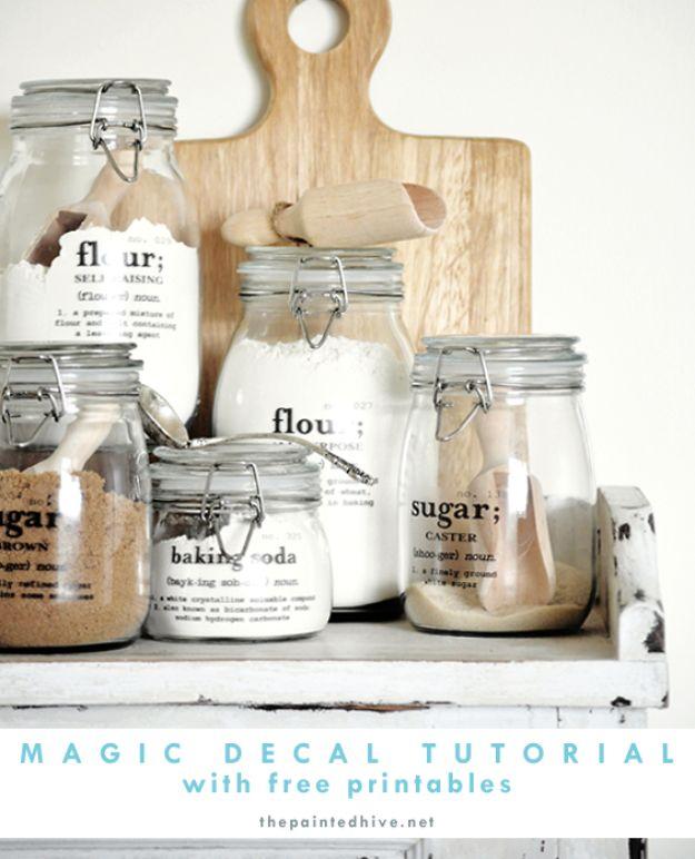 Mason Jar Decal Transfer