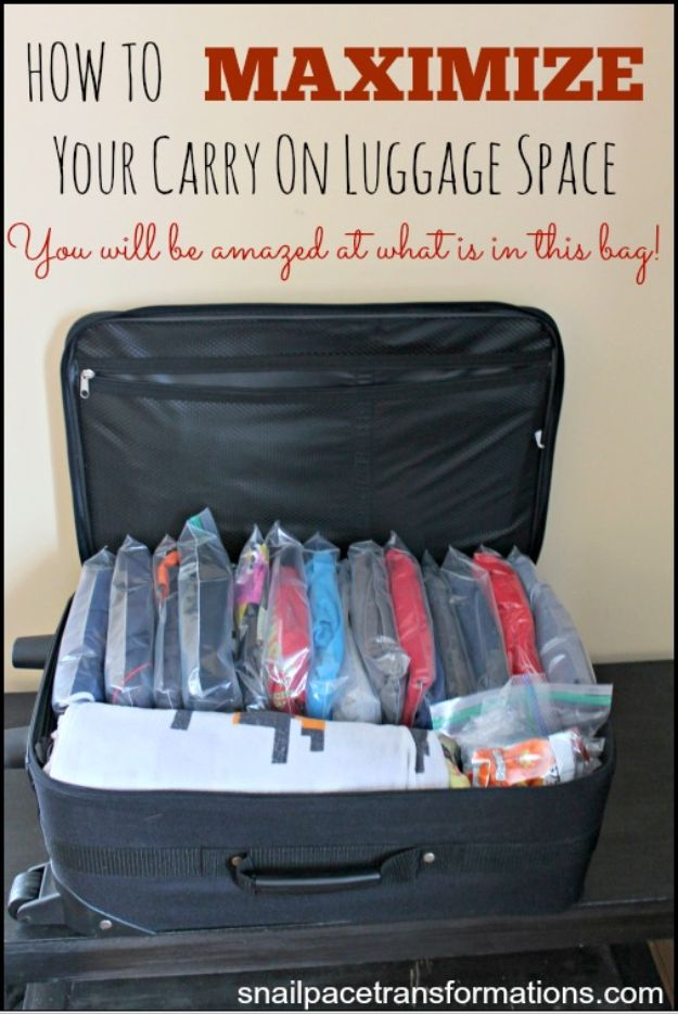 Packing Hacks for Travel - Maximize Your Carry On Luggage Space - How to Pack and Fold Clothes, Save Space in Suitcase - Tips and Tricks for Shoes, Makeup, Toiletries, Carry On Luggage for Trips