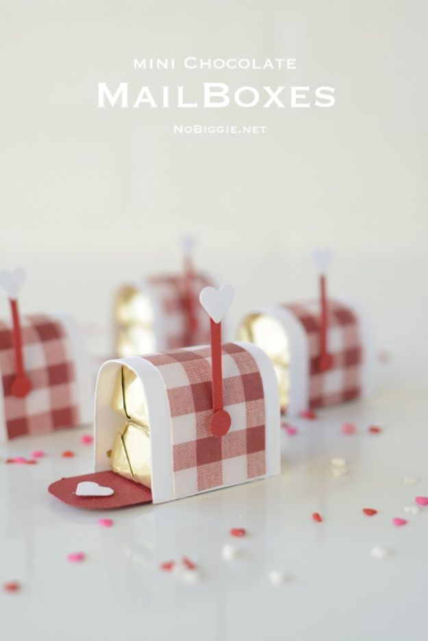 Crafts To Make and Sell - Mini Chocolate Mailboxes - 75 MORE Easy DIY Ideas for Cheap Things To Sell on Etsy, Online and for Craft Fairs. Make Money with crafts to sell ideas #crafts