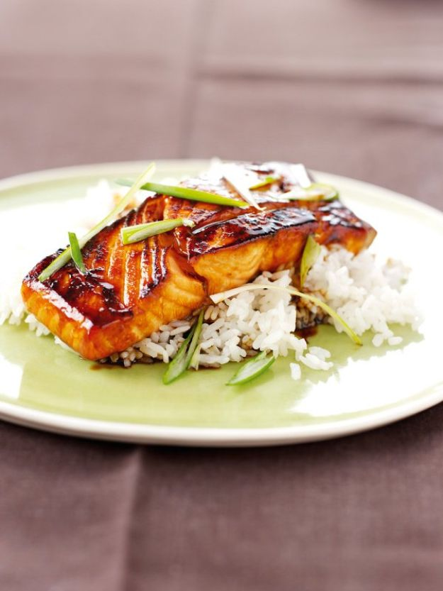 Celebrity Inspired Recipes - Nigella Lawson's Mirin Glazed Salmon - Healthy Dinners, Pies, Sweets and Desserts, Cooking for Families and Holidays - Crock Pot Treats