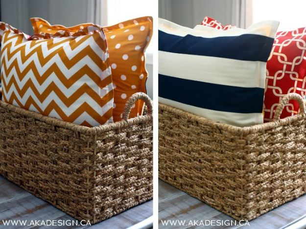 No Sew DIY Home Decor Ideas - No-Sew Floor Pillows - Easy No Sew Projects to Make for Bedroom,. Kitchen, Bath - Crafts to Make and Sell, Blankets, No Sewing Project Ideas #nosew #diydecor #diygifts #homedecor