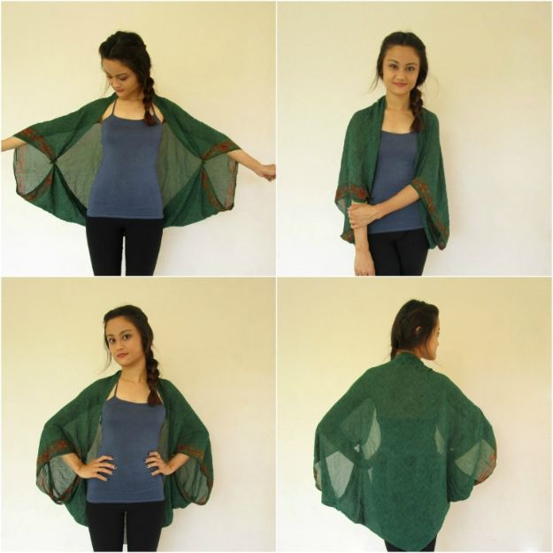No Sew DIY Fashion Ideas - No-Sew Kimono Cover-Ups - Easy No Sew Projects to Make for Clothes, Shirts, Jeans, Pants, Skirts, Kids Clothing No Sewing Project Ideas