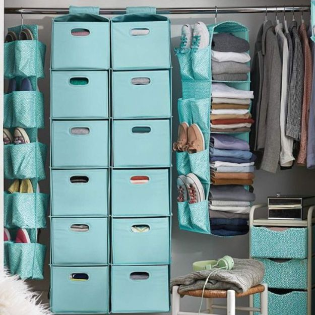 Closet Organization Ideas - Organize In Colors - DIY Closet Organizing Tutorials - Hacks, Tips and Tricks for Closets With Storage, Shoe Racks, Small Space Idea - Projects for Bedroom, Kids, Master, Walk in