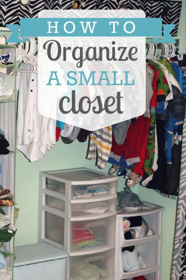 Closet Organization Ideas - Organize A Small Closet - DIY Closet Organizing Tutorials - Hacks, Tips and Tricks for Closets With Storage, Shoe Racks, Small Space Idea - Projects for Bedroom, Kids, Master, Walk in