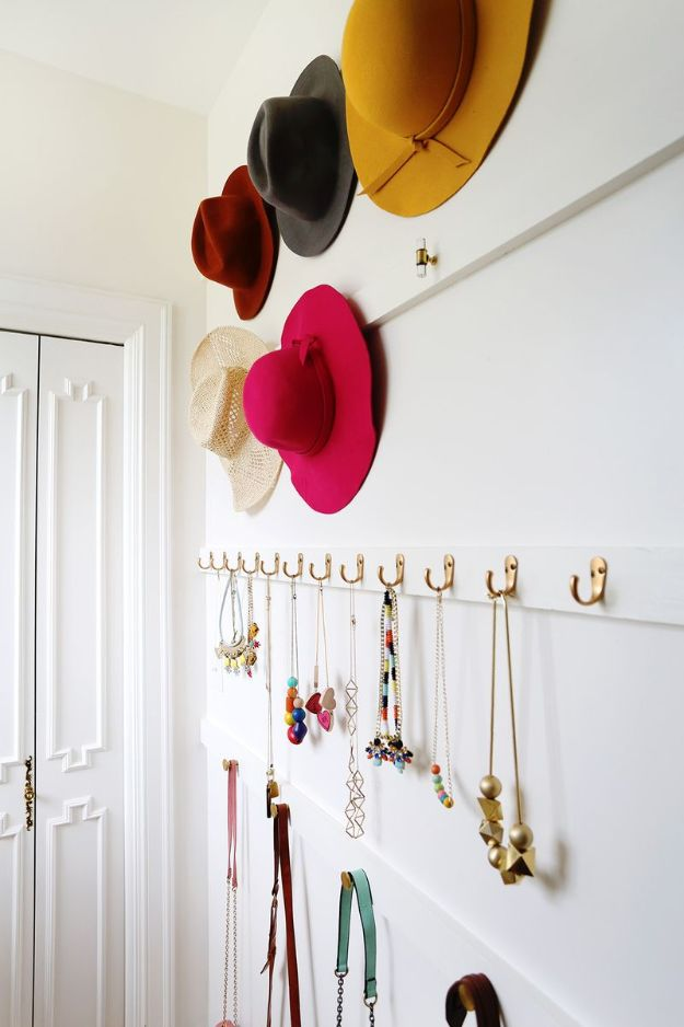 Closet Organization Ideas - Organize With Hooks - DIY Closet Organizing Tutorials - Hacks, Tips and Tricks for Closets With Storage, Shoe Racks, Small Space Idea - Projects for Bedroom, Kids, Master, Walk in